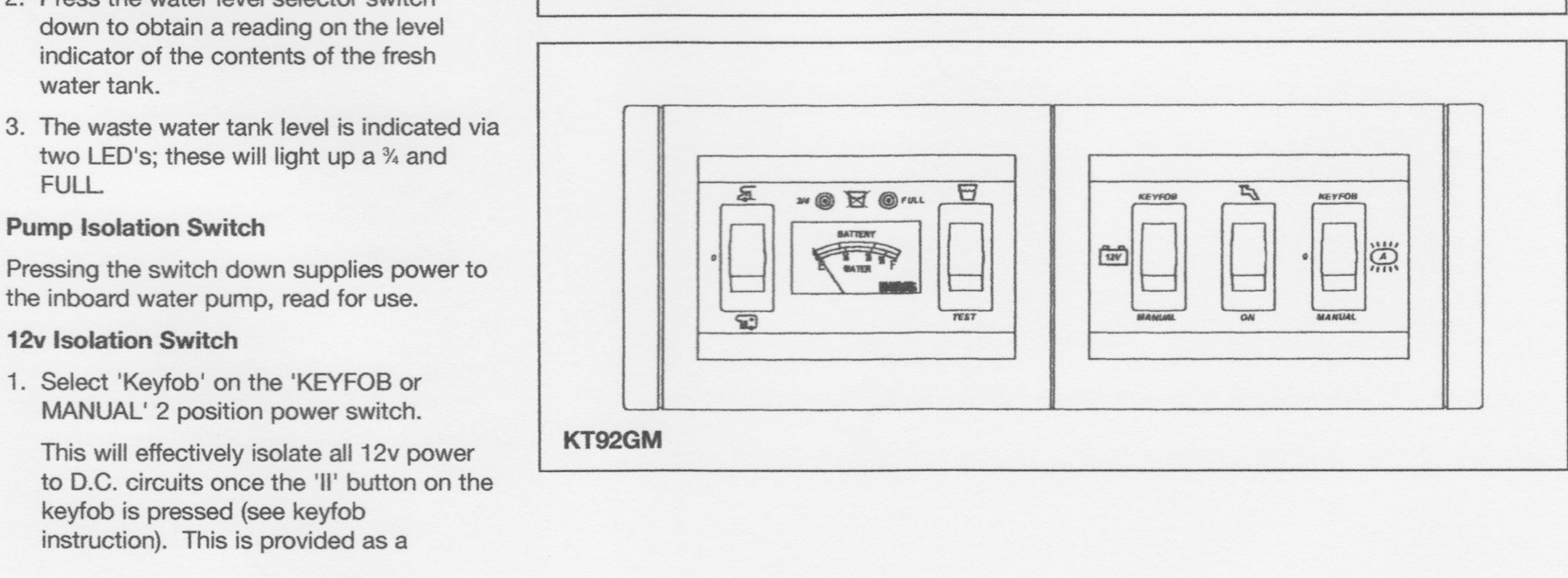 Gp1 Swift Freestyle Control Panel Motorhome Matters Sargent Wiring Diagram Page322