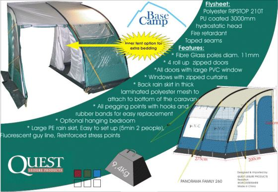 Quest Panorama Family 260 Awning