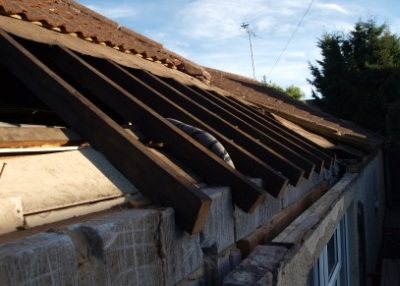 Warning     if you intend to have your guttering replaced